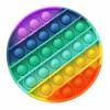 Push Pop Bubble Pop It Duyusal Oyuncak Özel Pop Stres Yuvarlak Gökkuşağı 0628
