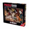 500 Parça Puzzle : Kediler ve Kitaplar