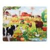 30 Parça Puzzle : Çiftlik Hayvanları ve Çiftçi