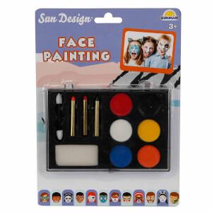 Sun Design Yüz Boyama Seti 6 Renk