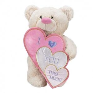 I Love İç içe Kalpli Peluş Ayı 55 cm.
