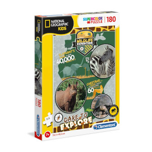 180 Parça Puzzle : National Geographic Kids Wildlife Expedition