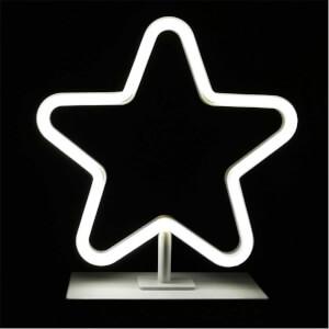 Dekoratif Neon Işıklı Yıldız