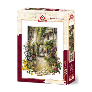 500 Parça Puzzle : Çiçekli Ara Sokak