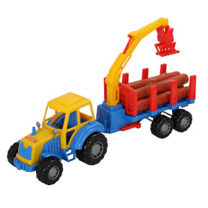 Yarı Römorklu Kereste Taşıyıcı Traktör