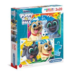 2 x 20 Parça Puzzle : Puppy Dog Pals