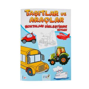 Taşıtlar ve Araçlar Noktaları Birleştirme Kitabı