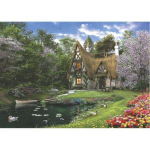 3000 Parça Puzzle : Göl Evi
