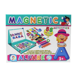 Manyetik Alfabe Aktivite Oyun Seti 58 Parça