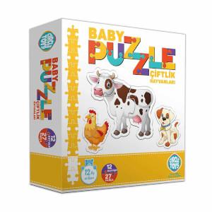Circle Toys Baby Puzzle Çiftlik Hayvanları