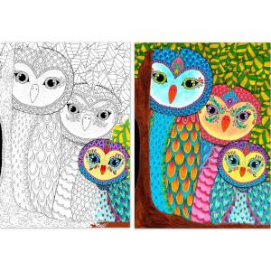 260 Parça Puzzle : Baykuş Ailesi