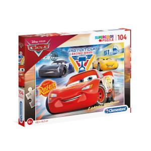 104 Parça Puzzle: Cars 3 Piston Cup