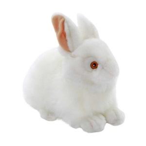 Beyaz Peluş Tavşan 23 cm.