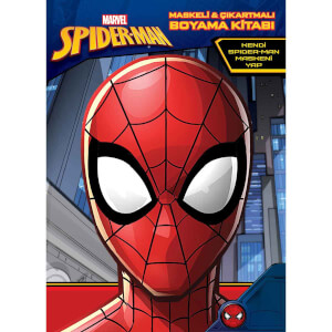 Marvel Spider-Man Maskeli ve Çıkartmalı Boyama Kitabı