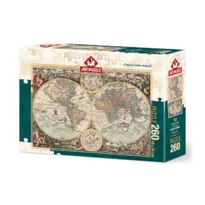 260 Parça Puzzle : Dünya Haritası 4276