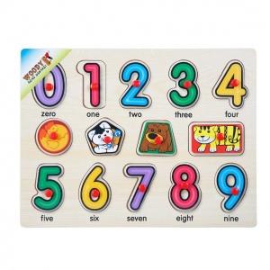 Woody Sayılar Ahşap Raptiyeli Puzzle 14 Parça