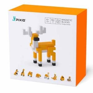 Pixio Orange Animals Manyetik Blok