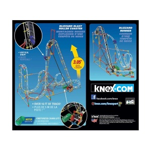 Knex Blizzard Blast Roller Coaster Motorlu Yapım Seti 54401