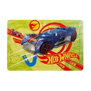 20 Parça Puzzle : Hot Wheels Mavi Araba