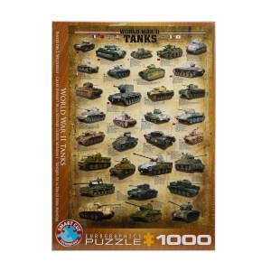 1000 Parça Puzzle : World War II Tanks