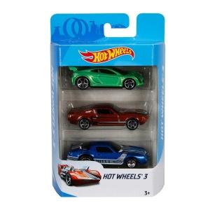 Hot  Wheels 3'lü Araba Seti