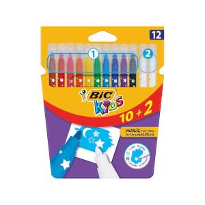 Bic Magic Silinebilir Keçeli Boya Kalemi 10+2