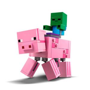 LEGO Minecraft BigFig Domuz ile Bebek Zombi 21157
