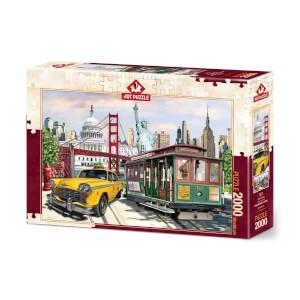 2000 Parça Puzzle : Kolaj Amerika
