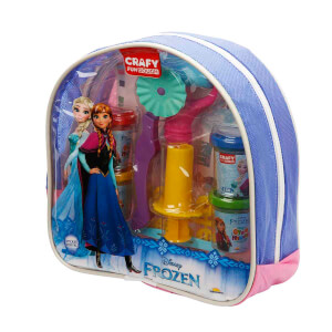 Crafy Frozen Sırt Çantalı Oyun Hamuru Seti 200 gr. 18 Parça