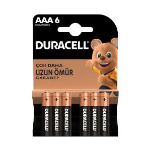 Duracell Basic İnce Kalem Pil AAA 6'lı