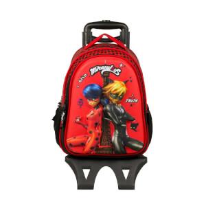 Miraculous Ladybug-Cat Noir Çekçekli Okul Çantası 2151
