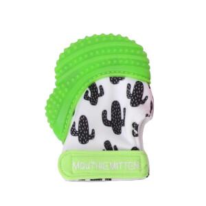 Mouthie Mitten Diş Kaşıyıcı Kaktüs Desenli Yeşil Eldiven