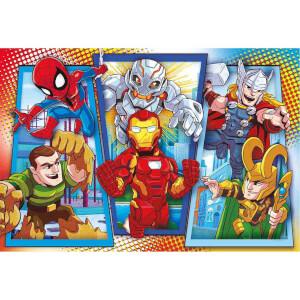 104 Parça Maxi Puzzle : Marvel Super Hero Adventures