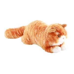 Yatan Tekir Kedi Peluş 34 cm.