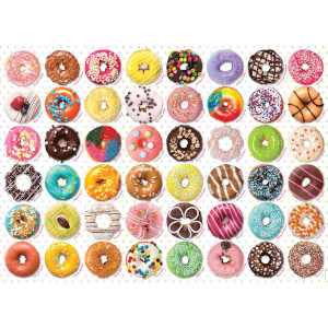 1000 Parça Puzzle : Donuts Tops