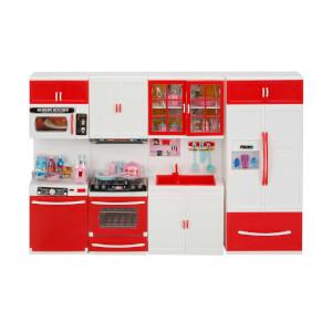Little Chef Sesli ve Işıklı 4'lü Mutfak Seti Kırmızı