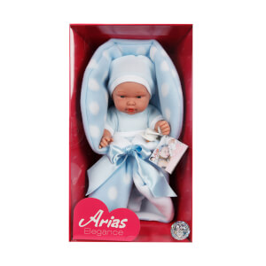 Elegance Yeni Doğan Mavi Elbiseli Et Bebek 26 cm.