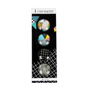 Geometrik 4'lü Cam Magnet