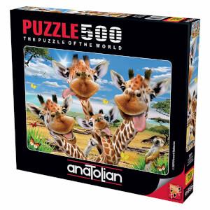 500 Parça Puzzle : Zürafa Selfisi