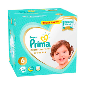Prima Premium Care 62'li Bebek Bezi Ekstra Large 6 Beden 13+ Kg Fırsat Paketi