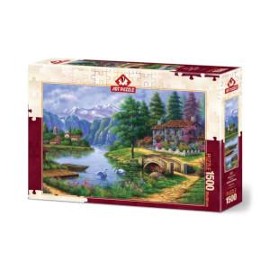 1500 Parça Puzzle : Göl Köy