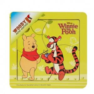 Woody Winnie The Pooh Ahşap Puzzle 4 Parça