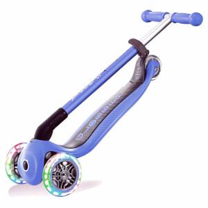 Globber Primo 3 Tekerlekli Işıklı Katlanabilir Lacivert Scooter