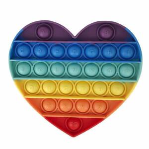 Push Pop Bubble Pop It Duyusal Oyuncak Özel Pop Kalp Gökkuşağı Renkli
