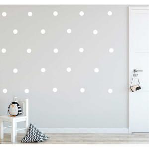 BugyBagy Beyaz Yuvarlak Duvar Sticker Polska Dots Büyük 100 Adet 5 cm.