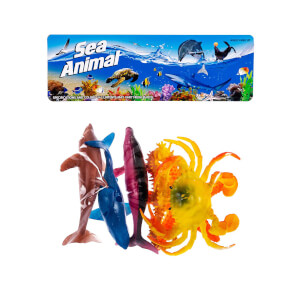 Deniz Hayvanları 6'lı Poşetli Oyun Seti
