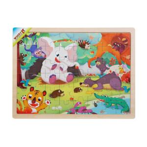 Woody Orman Hayvanları Ahşap Puzzle 48 Parça