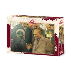 1000 Parça Puzzle : Atatürk ve Depremzede