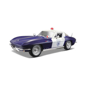 1:18 Maisto Chevrolet Corvette Police 1965 Model Araba