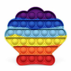 Push Pop Bubble Pop It Duyusal Oyuncak Özel Pop Stres Deniz Kabuğu Gökkuşağı Renkli